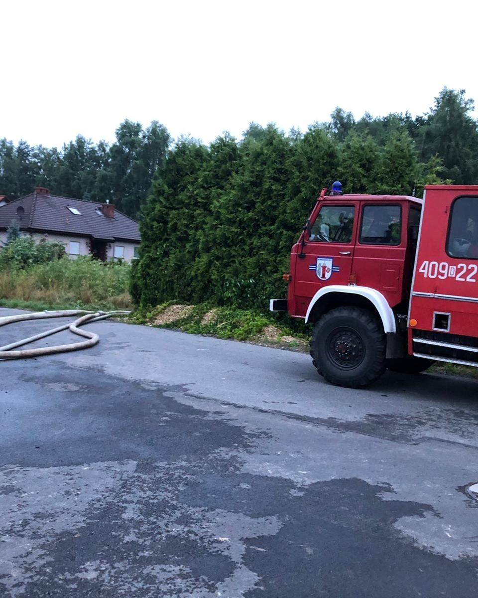Działania straży pożarnej z Nowogrodźca