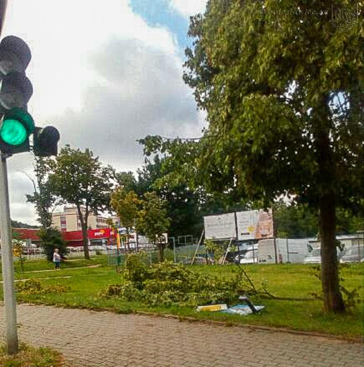 Usuwanie skutków nawałnicy w Bolesławcu