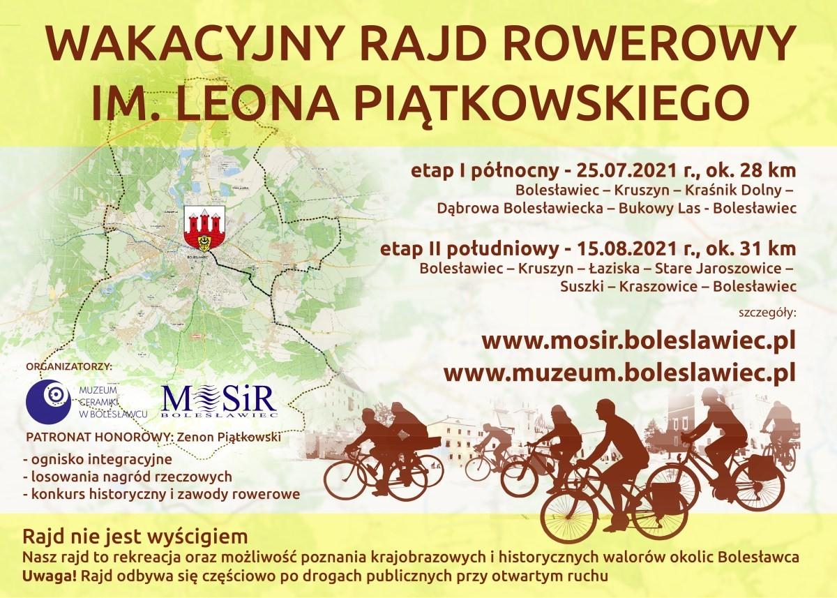 Plakat Wakacyjny Rajd Rowerowy