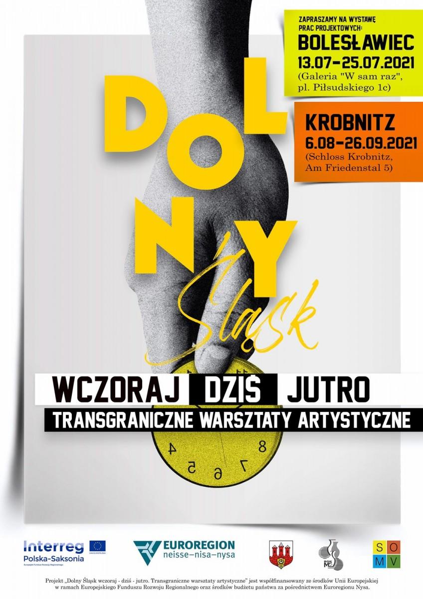 Plakat projektu Dolny Śląs wczoraj - dziś - jutro