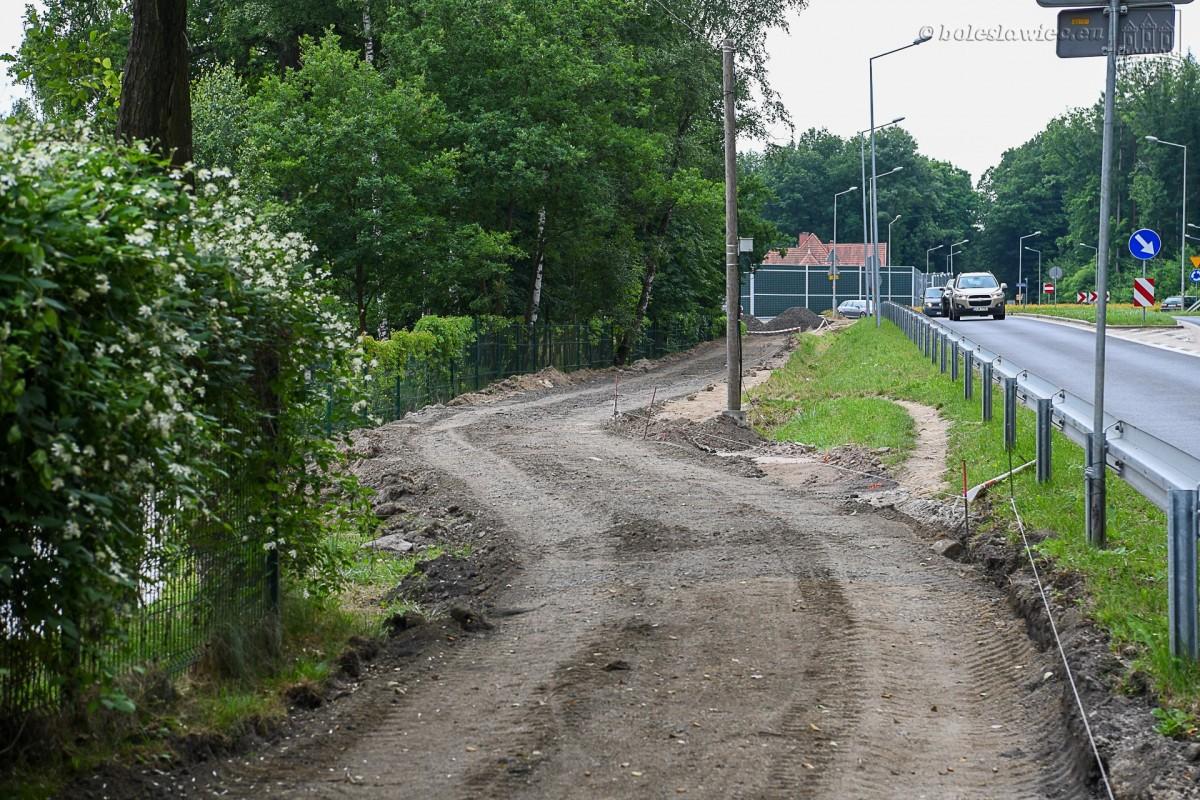 Prace drogowe w Bolesławcu