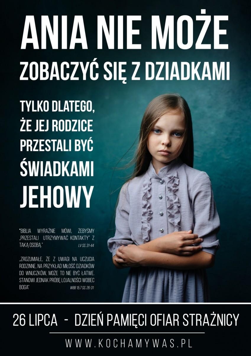 Plakat Dzień Pamieci Ofiar Strażnicy Świadkowie Jehowy 26 lipca