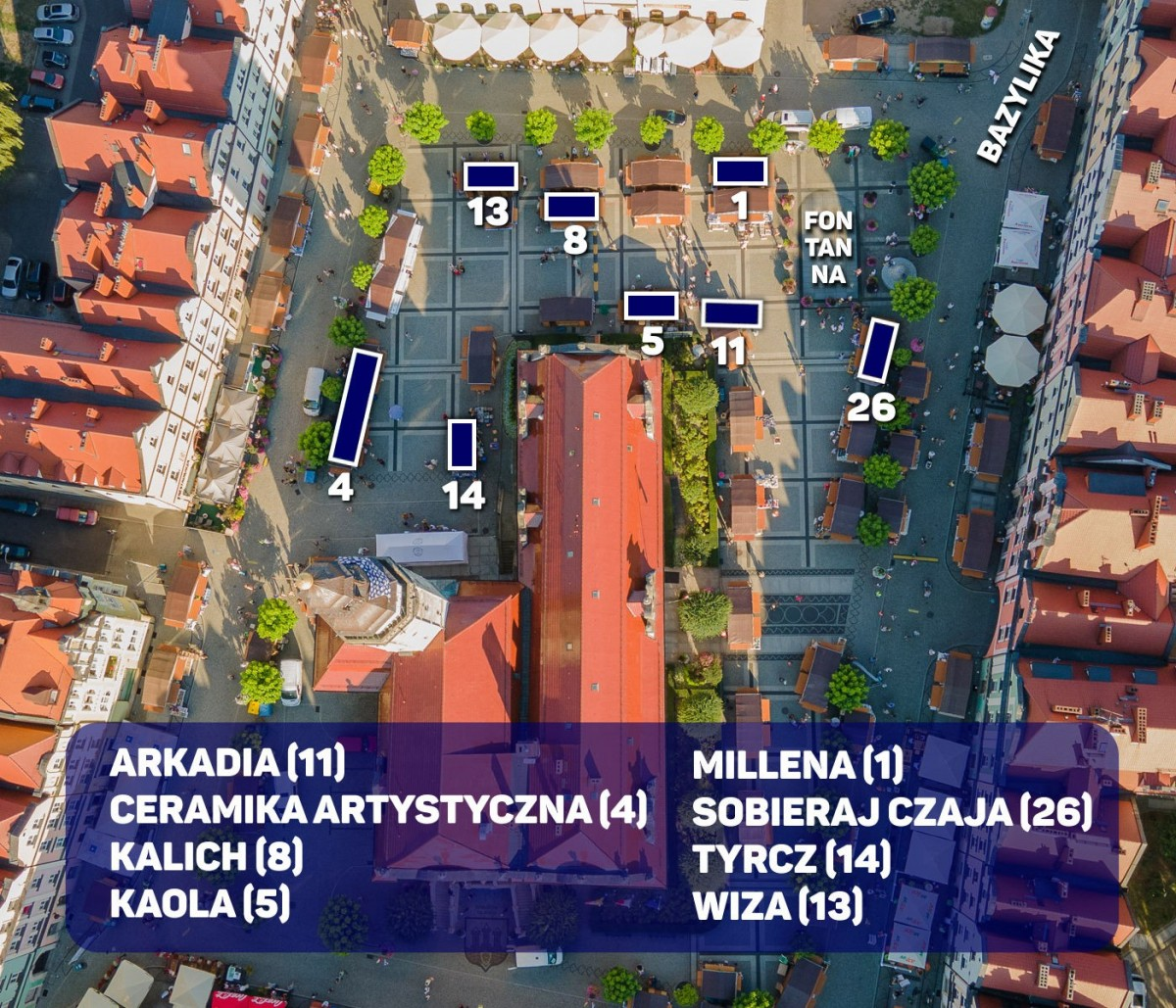 Mapka Domków ceramików Bolesławieckie Święto Ceramiki ON-LINE 2021