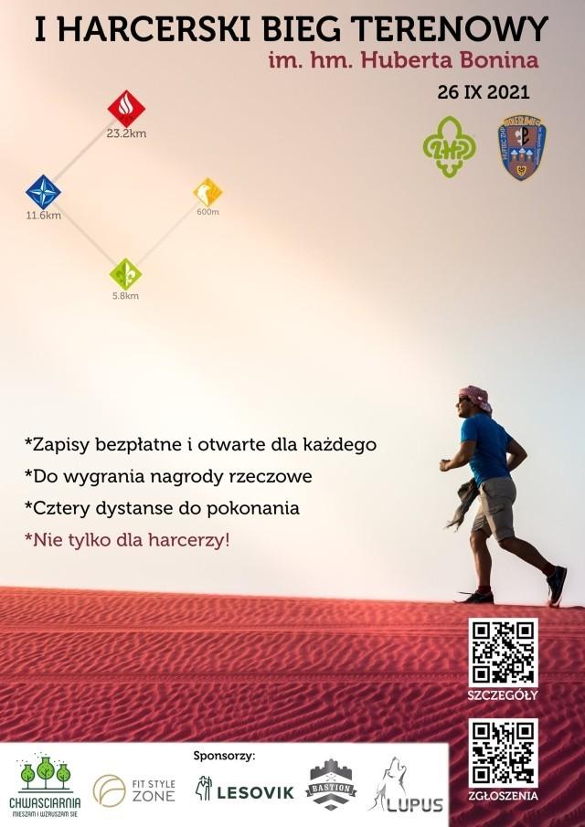 I Harcerski Bieg Terenowy - plakat