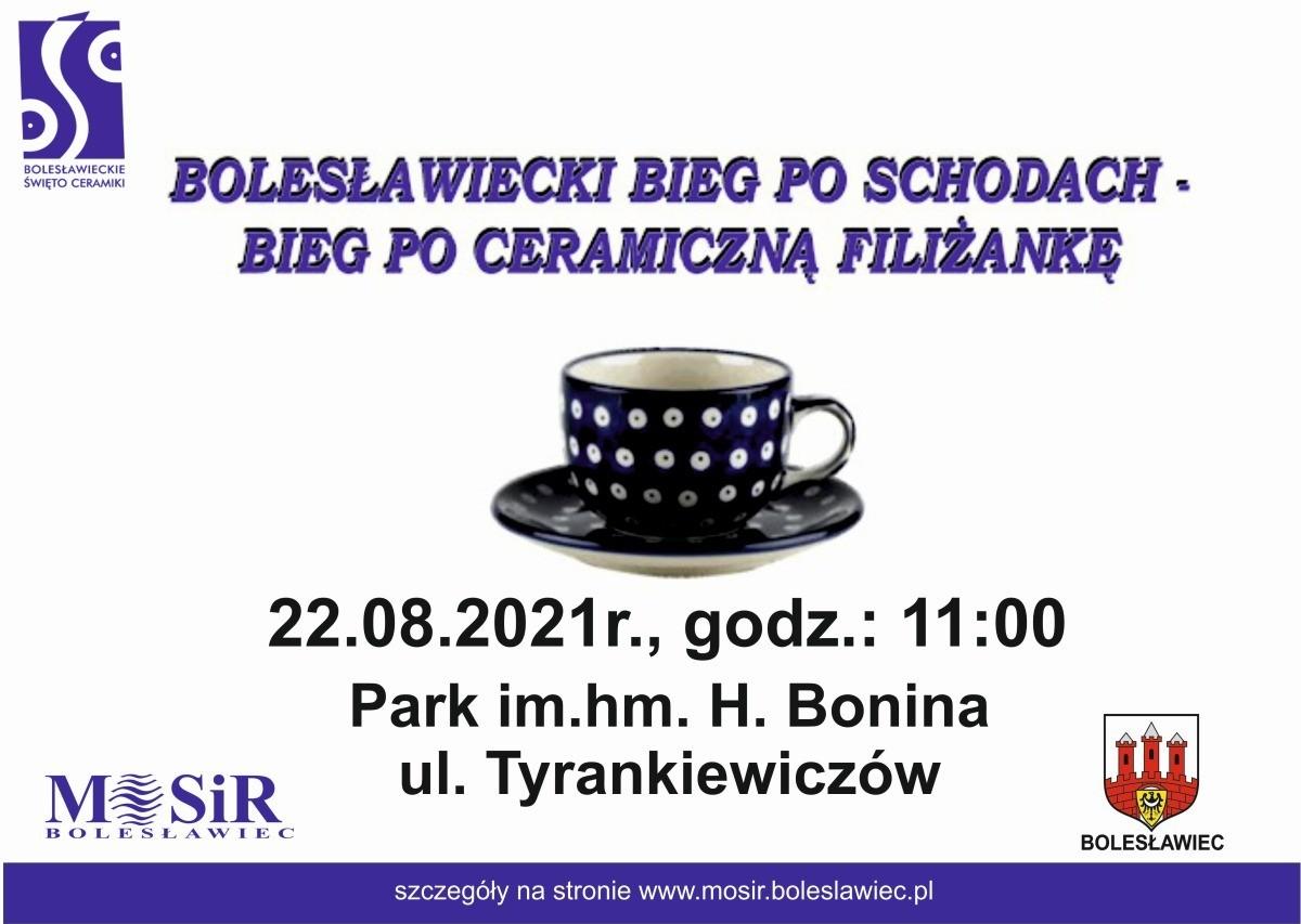 Bolesławiecki bieg po schodach - Bieg po ceramiczną filiżankę