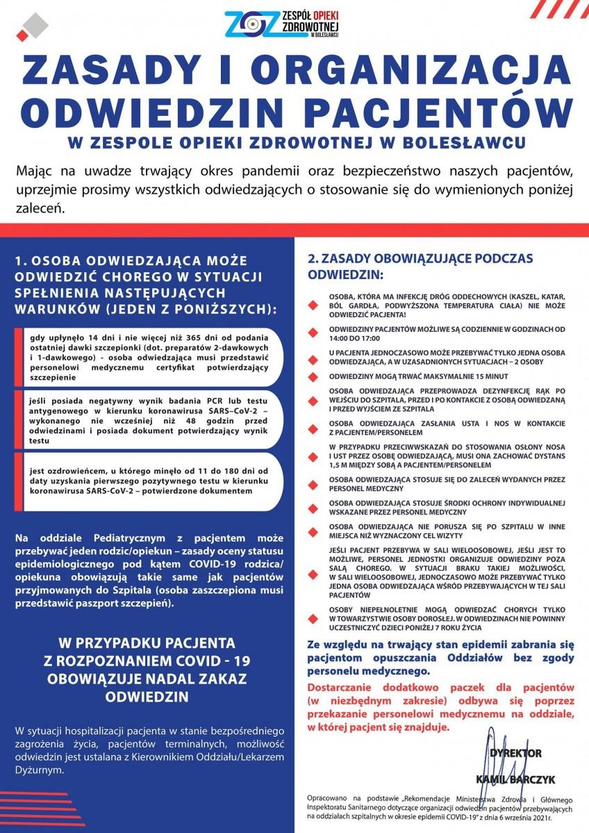 Informacja ZOZ-u w Bolesławcu