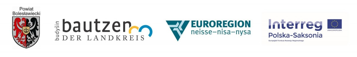 Logotypy Powiatu Bolesławickiego, Landkreis Bautzen, Euroregionu Nysa i programu Interreg
