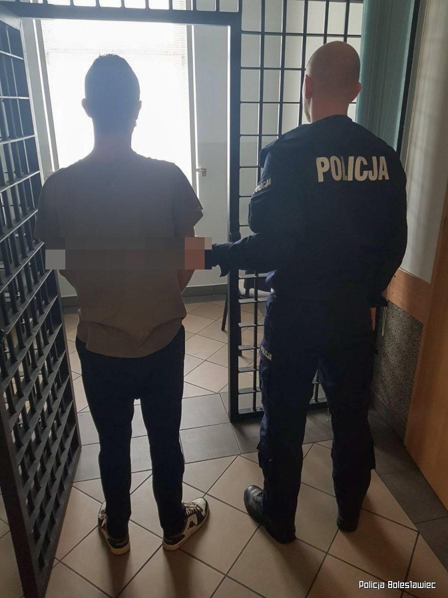 Podejrzany i policjant