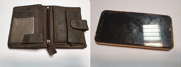 Znaleziony portfel i telefon